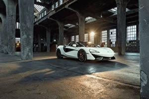 Hintergrundbilder McLaren Weiß Metallisch 2018 Novitec 570S Spider