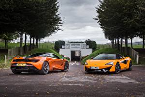 Images McLaren 2 Orange Metallic automobile