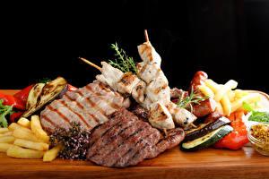 Papel de Parede Desktop Produtos de carne Shashlik Hortaliça Alimentos