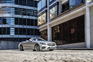 Pictures Mercedes-Benz Cabriolet Silver color 2018-19 S 560 Cabriolet AMG Line auto