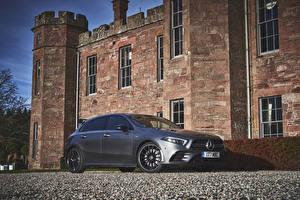 Hintergrundbilder Mercedes-Benz Silber Farbe 2019 AMG A 35 4MATIC Aerodynamic Package Autos