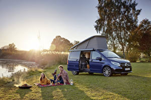 Pictures Mercedes-Benz Blue Metallic Picnic 2019 Marco Polo Worldwide Cars