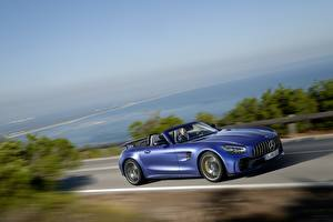 Picture Mercedes-Benz Moving Blue Cabriolet GT R AMG Cars