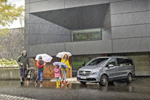 Fotos Mercedes-Benz Regen Grau 2019 V-Klasse Exclusive Line Worldwide Autos