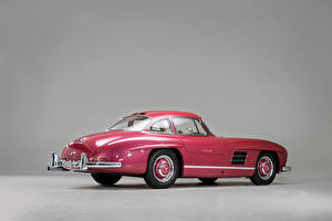 Pictures Mercedes-Benz Vintage Gray background Pink color Metallic 1956 300 SL auto