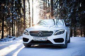 Photo Mercedes-Benz Front White mercedes c450 Cars