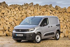 Hintergrundbilder Peugeot Grau 2018-19 Partner LWB Autos
