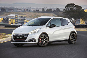 Wallpapers Peugeot White Metallic 2018 208 GTi Cars