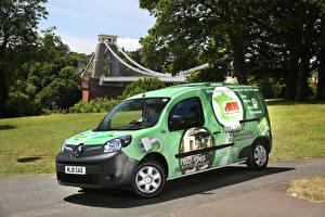 桌面壁纸,,雷诺,黃綠色,2018-19 Kangoo All-Electric Refrigerated Van,汽车