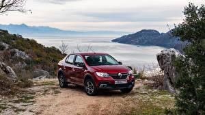 Bilder Renault Bordeauxrot 2018-19 Logan Stepway City Autos