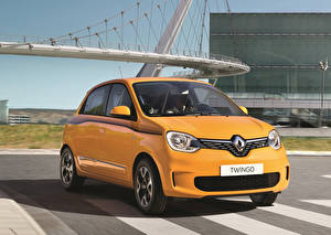 Papel de Parede Desktop Renault Amarelo Metálico 2019 Twingo Worldwide Carros