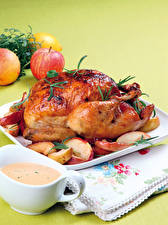 Image Roast Chicken Apples