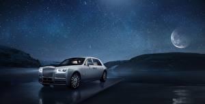 Bilder Rolls-Royce Nacht Weiß Phantom Tranquillity