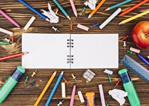 Wallpaper School Stationery Boards Notebooks Pencils