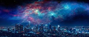 Hintergrundbilder Wolkenkratzer Gebäude Vereinigte Staaten Nacht Megalopolis Los Angeles Städte