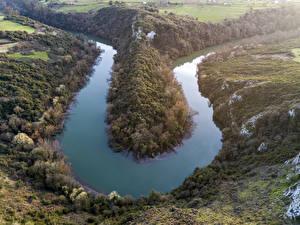 Bilder Spanien Flusse Hügel Oviedo Asturias