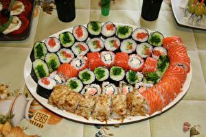 Hintergrundbilder Sushi Viel Fische - Lebensmittel das Essen