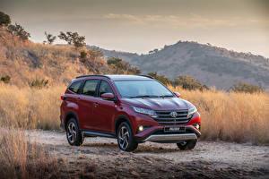 Hintergrundbilder Toyota Bordeauxrot Metallisch 2018 Rush Autos