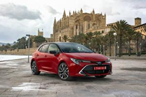 Hintergrundbilder Toyota Hybrid Autos Rot Metallisch 2019 Corolla Hybrid Worldwide Autos