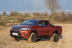 Fondos de Pantalla Toyota Pickup Naranja 2019 Hilux Challenger Xtra Cab autos