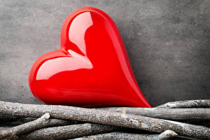 Wallpapers Valentine's Day Branches Heart Red