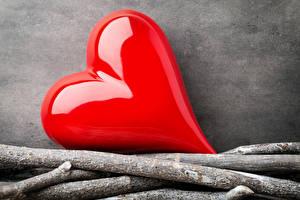 Papéis de parede Dia dos Namorados Galho Coração Vermelho