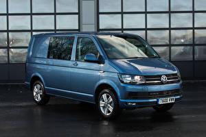 Hintergrundbilder Volkswagen Hellblau 2015-19 Transporter Kombi Autos