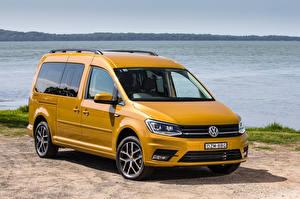 Hintergrundbilder Volkswagen Gelb Metallisch 2019 Caddy Beach Maxi