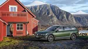 Bilder Volkswagen Grün Metallisch 2019 Passat Alltrack Worldwide