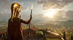 Bilder Krieger Assassin's Creed Odyssey Speer Alexios Spartans Spiele