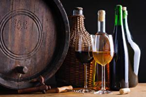 Images Wine Barrel Bottles Stemware