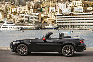Images Abarth Black Cabriolet Side Metallic 2019 124 spider 70esimo Anniversario auto