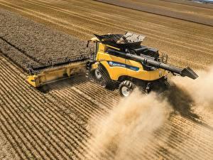Hintergrundbilder Landwirtschaftlichen Maschinen Felder Weizen Mähdrescher CR10.90 Revelatio