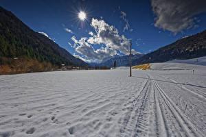 Hintergrundbilder Österreich Winter Gebirge Schnee Wolke Sonne Tyrol Natur
