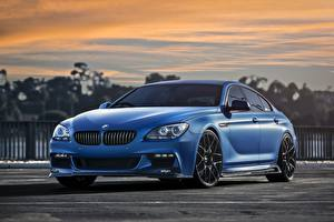 Wallpapers BMW Blue Matte 640i Cars