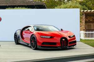 Wallpapers BUGATTI Red Metallic chiron Cars