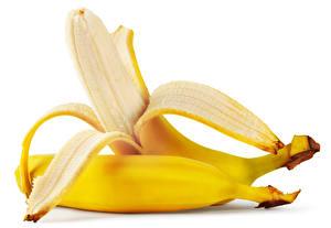 Image Bananas Closeup White background 2