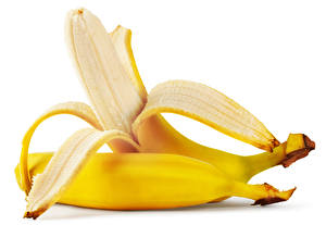Image Bananas Closeup White background 2 Food