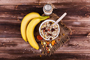 Image Bananas Muesli Raisin Boards Breakfast Jar Food