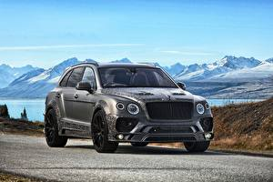 Hintergrundbilder Bentley Grau Bentayga Autos