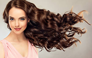 Image Brown haired Hair Glance Face Girls