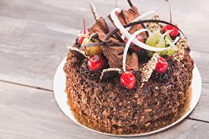 Bilder Torte Kirsche Schokolade Design das Essen