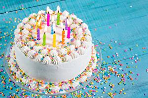 Fotos Torte Feiertage Kerzen Design