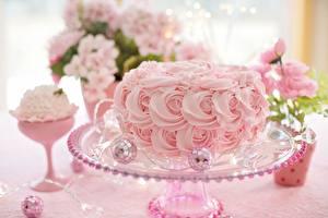 Fotos Torte Rosa Farbe Design Lebensmittel