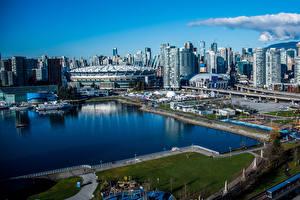 Bilder Kanada Gebäude Bootssteg Vancouver Bucht Städte