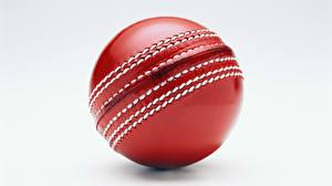 Hintergrundbilder Großansicht Ball Rot Grauer Hintergrund Cricket Sport