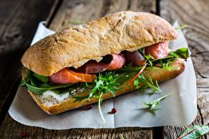 Fotos Nahaufnahme Sandwich Fische - Lebensmittel