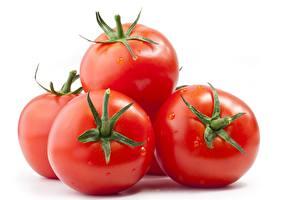 Fotos Großansicht Tomate Weißer hintergrund