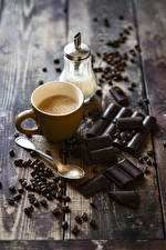Pictures Coffee Cappuccino Chocolate Boards Cup Grain