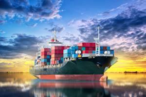 Hintergrundbilder Containerschiff Schiffe